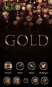 Gold Go Launcher Theme For Android Free Download At Apk Here Store