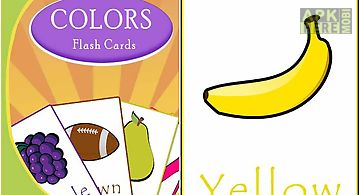 Learn colors with flash cards