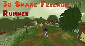 3d snake: friends runner