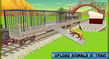 Train transport: zoo animals