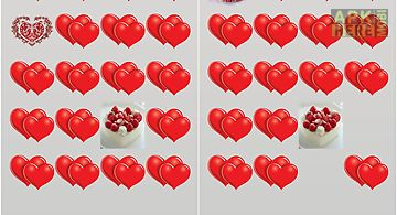 Love hearts match-up game