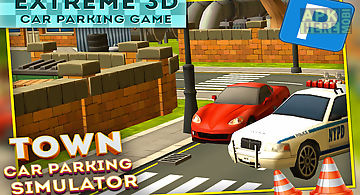 Town car parking simulator 3d