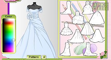 Fashion studio wedding dress