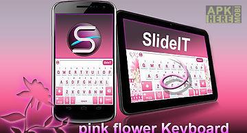 Slideit pink flower skin