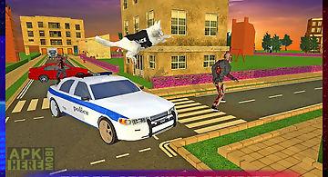 Police dog vs dead zombies