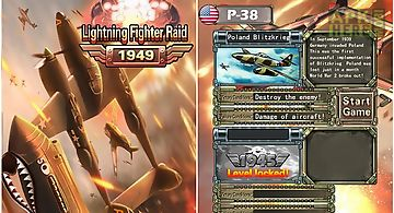 Lighting fighter raid: air fight..