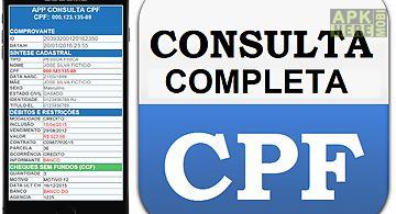 Consulta cpf completa r$ 9,99