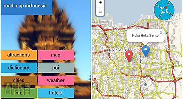 Indonesia offline map &weather