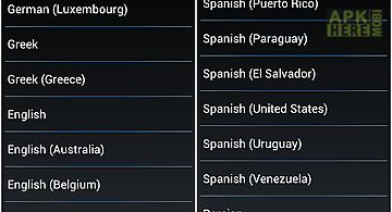 Language and locale set