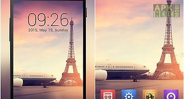 Romantic paris launcher theme