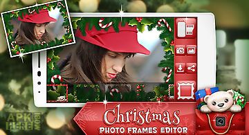 Christmas photo frames editor
