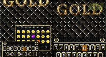 Gold theme for kika keyboard