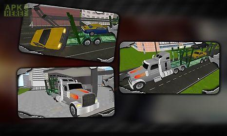 modern car transport trailer
