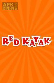 red kayak. kayaking