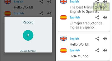 English - spanish. translator