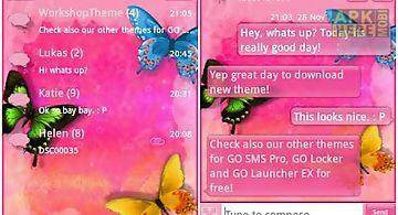 Go sms pro theme pink nice
