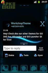 go sms theme blue simple