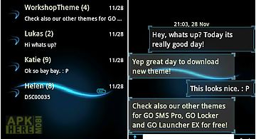 Go sms theme blue simple