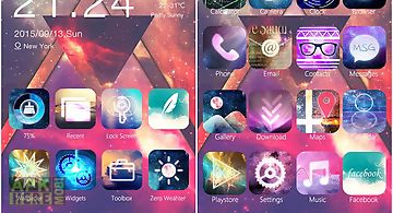 Nebula theme - zero launcher