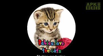 Babies love cats