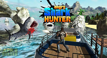 Angry shark hunter