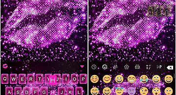 Kiss me emoji keyboard theme