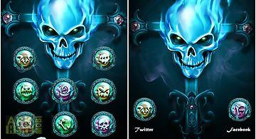 Skull go launcher theme