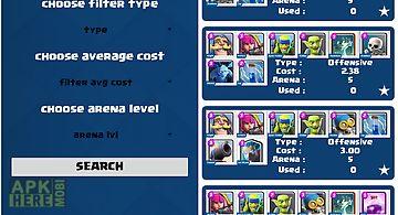 Decks builds for clash royale