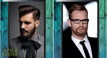 Beard booth photo montage