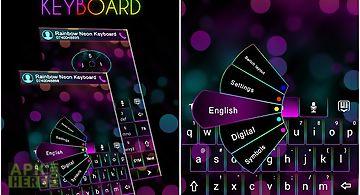 Go keyboard rainbow neon theme
