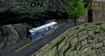 Uphill climb bus drive-offroad