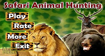 Safari animal hunting