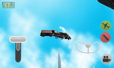 flying train simulator 3d
