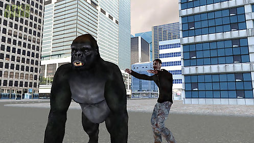 real gorilla vs zombies - city