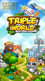 triple world: animal friends build garden city