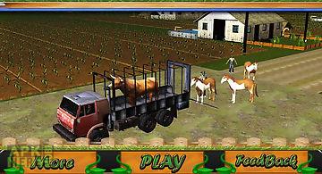 Transport truck: farm animals