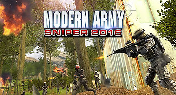 Modern army sniper shooter