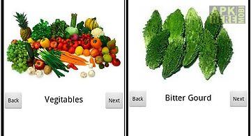 Kids learning vegetable names