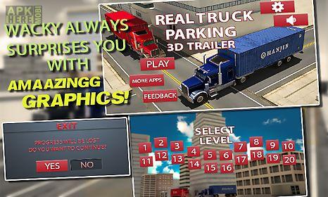 real truck parking 3d trailer
