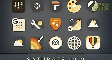 Saturate - free icon pack