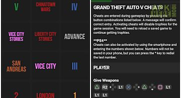 Gta v cheats for Android free download at Apk Here store - Apktidy com