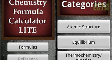 Chemistry formula calc lite