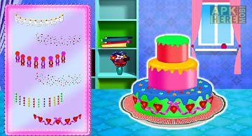 Yummy birthday cake decorating