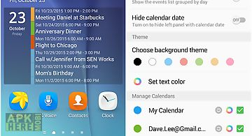 Transparent calendar widget for Android free download at Apk