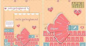 Cute go keyboard theme