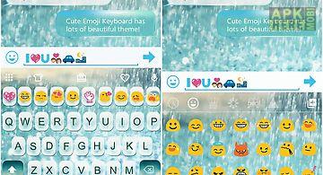 Glass rainy emoji keyboard art