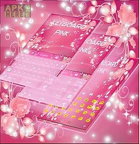 pink keyboard rose theme