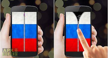 Russia flag zipper lock