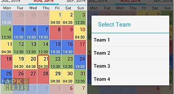 work schedule app