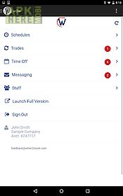 w2w : whentowork mobile app